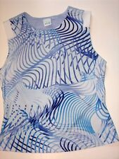 Womens Small Pro Spirit Blue Swirls Breathable Athletic Tank Top GC