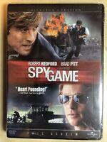 Spy Game by Universal DVD Robert Redford, Brad Pitt, Full Screen 2002 **SEALED**