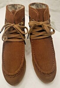 Timeless brown Fur Lined Suede Ankle Boots, Brand New with box. Size 3 UK, 36 EU