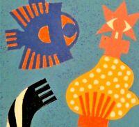 Gisela Könemund - Farblitho num +sign 1981: STERNZEICHEN