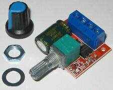 Compact Pwm Dc Motor Speed Controller 6 To 28 V Dc 3 Amp Knob Nut Includ