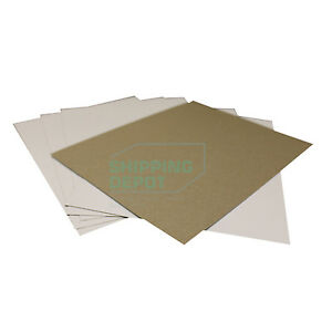 """1-500 8.5x11 22pt White & Brown Chipboard Pads Scrapbooking Sheets .022 8.5"""" 11"""""""