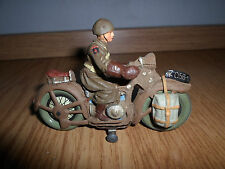 german Lineol/Elastolin US americaSoldier WWII Motorcycle Dispatch Rider 7cm