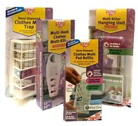 Zero In Demi-Diamond Clothes Moth Killer Trap Clothes Hanging Unit Trap Refills.