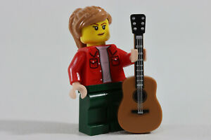 LEGO® City Minifigure Lady Female Guiter Player Music Band Member
