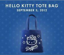 NEW MLB LOS ANGELES DODGERS Hello Kitty Tote Bag SGA 2012