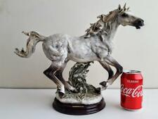 XL 16 Inch Capodimonte Florence Giuseppe Armani Galloping Horse Animal Figure