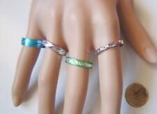 Lote 4 anillos aluminio colores nº 9 ó 18 mm diámetro medio bisutería r-42