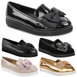LADIES WOMENS GIRLS FLAT DOLLY BALLET BALLERINA CREEPERS WORK SCHOOL SHOES SIZE