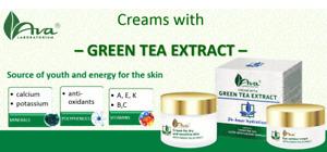 Ava Laboratorium GREEN TEA - Hydration Cream, Oily or Sensitive Skin Cream, Eye