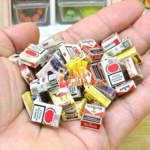 10pcs Random Miniature Dollhouse Mini Cigarette Bar Room Home Store Bonsai Decor