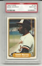 1982 Fleer Eddie Murray #174 PSA 10 Gem Mint Baseball Card.