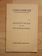 Linguaphone Sprach-Lehrgang - Anleitungen für den Studierenden, Linguphone Insti