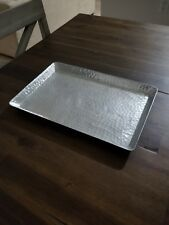 Stainless cosmetic / towel / beauty products tray with hammered design