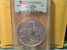 2014 P America the Beautiful 5 oz Silver Quarter PCGS SP69 EVERGLADES NP
