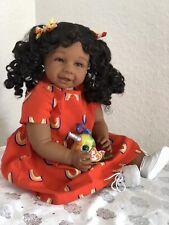 "Reborn 22"" Ethnic/Hispanic/Biracial/African American Toddler Girl doll ""Harmony"""