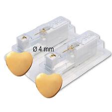 1 Paar STUDEX Medizinische Ohrstecker Herz vergoldet Chirugenstahl **26136.502