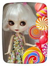 Factory Type Neo Blythe Doll White Hair, Jointed, Outfit, Stand