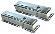 SB Chevy SBC Tall Chrome Steel Valve Covers 1959 -1986 283 327 350 W/ Grommets