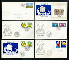 Iceland Stamps on 42 First Day Covers FDC