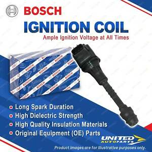 1 x Bosch Ignition Coil for Nissan Pulsar N16 1.8L 92KW 2000 - 2006