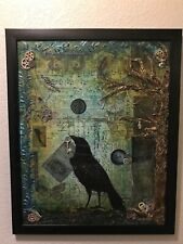Picture The Raven, Mixed Media, Acrylics , Prints, Fine Art by Lisa
