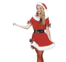 Deluxe Miss Santa Women's Sexy Mrs Claus Cosplay Costume One Size NO BELT #7285