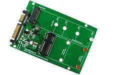 ZTC 2-in-1 Thunder Board M.2 (NGFF) or mSATA SSD to SATA III Adapter Board