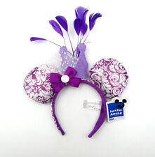 Disney Park Mickey Halloween Minnie Mouse Ears Purple Feathers Cos Headband