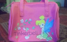 DISNEY TINKERBELL FABRIC CHILDRENS PURSE COSMETICS PENCILS BAG - NWT - DK PINK