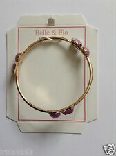 Belle & Flo Women`s Ladies Jewellery Bracelets Gold and Lilac Gift