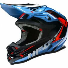 2017 UFO Motocross MX Enduro Helmet Speeder Large 59-60cm Sky Blue Black Red