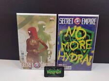 Secret Empire #9 & #10 Sorrentino Variant Nm Marvel Comics Hydra Captain America