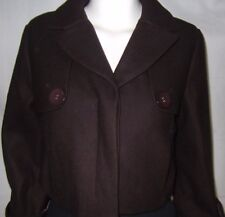 DECJUBA  Womens 3/4 sleeve Brown short Jacket size 10