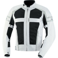 iXS Andover Mesh Motorcycle Jacket With Armor White/Grey Men's