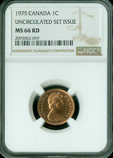 1975 CANADA CENT NGC MAC MS-66 UNCIRCULTED SET SPOTLESS  *