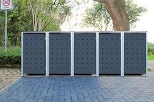 5 Mülltonnenboxen Modell No.1 Anthrazitgrau für 120 Liter Mülltonnen