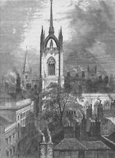 WREN CHURCHES. St.Dunstan's-in-the-East. London c1880 old antique print