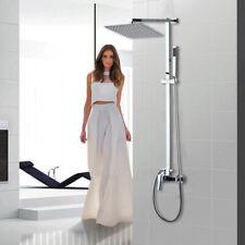 "Us 8"" Rain Shower Head 2 Way Mixer Valve Handheld Spray Shower Faucet System Set"