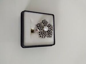 La Luna Sterlingsilber Ring 925 mit Saphir