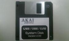 AKAI S2800 / S3000 / S3200 - Operating System bootdisk V2.00 Floppy - Not XL
