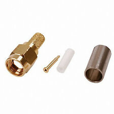 SMA Male Crimp Plug  Connector Gold Plated To Suit RG174 Cable