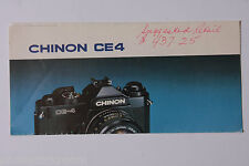 Chinon CE4 Sales Brochure Flyer Page - English - USED B7