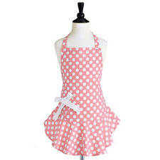 New Jessie Steele Child Kid Girl Bib GERANIUM PINK  & WHITE POLKA DOT Apron gif