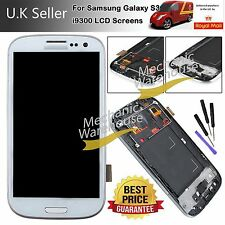 FOR SAMSUNG GALAXY S3 GT I9300 LCD SCREEN DISPLAY TOUCH DIGITIZER FRAME WHITE UK