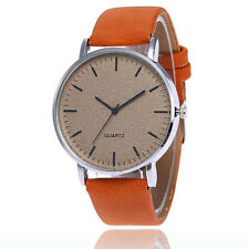 Womens Watches Fashion Casual Mens Leather Bracelet Charm Quartz Wristwatches