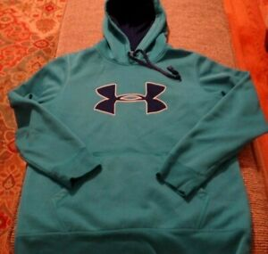 VGC BOYS GIRLS YOUTH UNDER ARMOUR BLUE HOODED SWEATSHIRT -- SIZE LARGE L