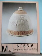 Lladro 1989 Annual Christmas Bell Ornament Mnib