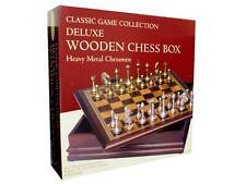 Chess Set Classic Game Collection Deluxe Wooden Chess Box Heavy Metal  BRAND NEW