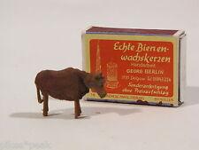 Très ancienne miniature masse personnage vache poupées tubes accessoires?